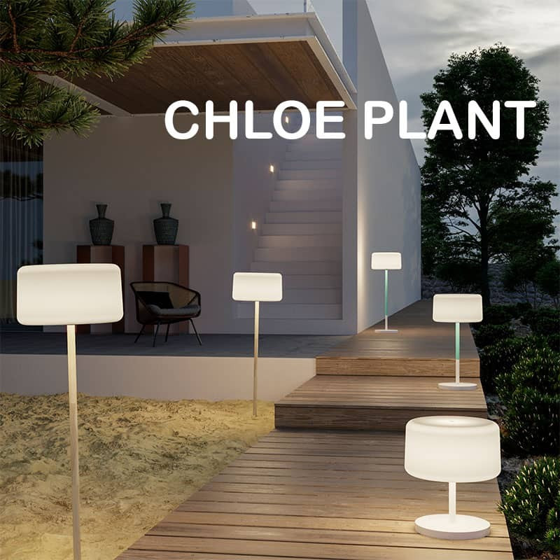 Lampadaire solaire rechargeable  - CHLOE PLANT - Newgarden