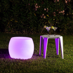 Tabouret LED RGBW Rechargeable