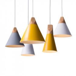Luminaire suspensdu style nordique - WOOD - b-w-p-distribution.com