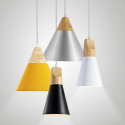 Luminaire suspensdu style nordique - WOOD - b-w-p-distribution.com