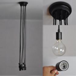 Luminaire Araignée Noir - ARACHNIDE - b-w-p-distribution.com