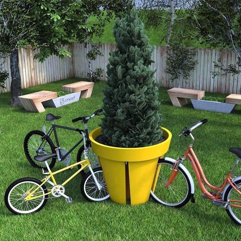 Pot de fleurs et Rangements pour Vélos - b-w-p-distribution.com
