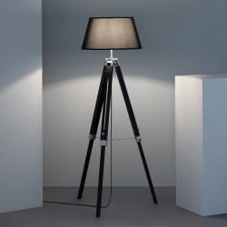 Lampe sur pieds en bois - ZAWENA - b-w-p-distribution.com