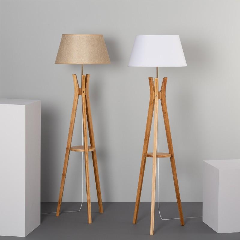 Lampe sur pieds en bois - SOQAAN - b-w-p-distribution.com