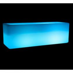 Seau à glace lumineux rectangulaire - b-w-p-distribution.com