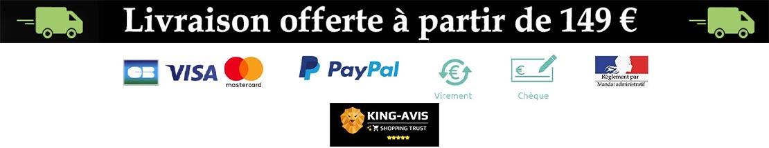 Livraison offerte à partir de 149€ (France Métropolitaine et Corse) * Relais colis - b-w-p-distribution.com